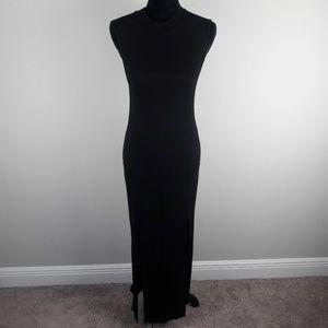 One clothing turtle neck sleeveless maxi dress
